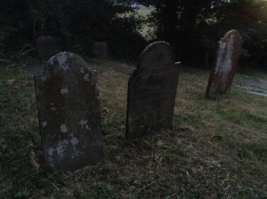 Stones in the Falmouth Jewish Cemetery on the A39.