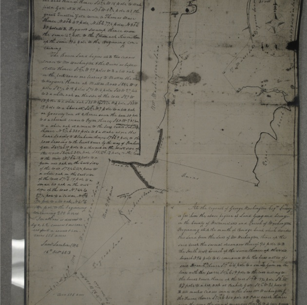 Photostat of survey plat Lamkin 1813 COLOR