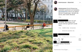 Wien Museum_Social distancing at the park in front of the museum_March 20, 2020